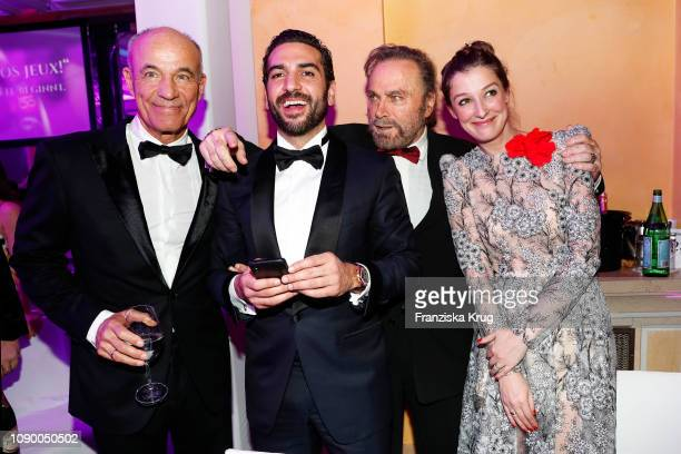 Heiner Lauterbach Elyas M'Barek Franco Nero and Alexandra Maria Lara during the 46th German Film Ball at Hotel Bayerischer Hof on January 26 2019 in...