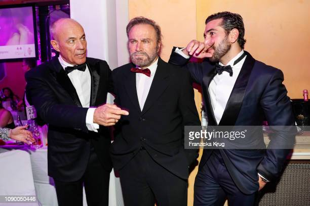 Heiner Lauterbach Franco Nero and Elyas M'Barek during the 46th German Film Ball at Hotel Bayerischer Hof on January 26 2019 in Munich Germany