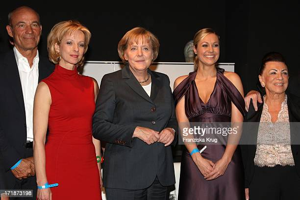 Heiner Lauterbach Mareike Carriere German Chancellor Angela Merkel Ruth Moschner And Alice Brauner at producers Fest 2009 of the German film and...