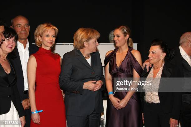 Heiner Lauterbach Mareike Carriere German Chancellor Angela Merkel Ruth Moschner Alice And Artur Brauner at producers Fest 2009 of the German film...