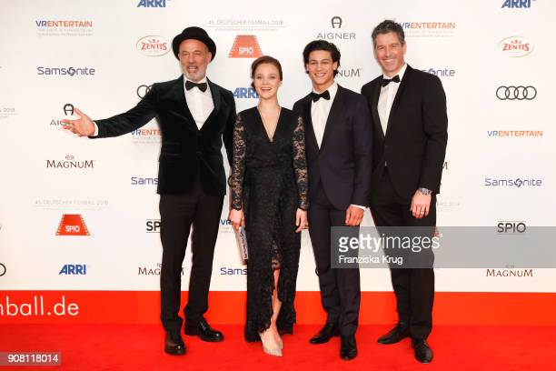 Heiner Lauterbach Sonja Gerhardt Emilio Sakraya and Wolfgang Groos attend the German Film Ball 2018 at Hotel Bayerischer Hof on January 20 2018 in...