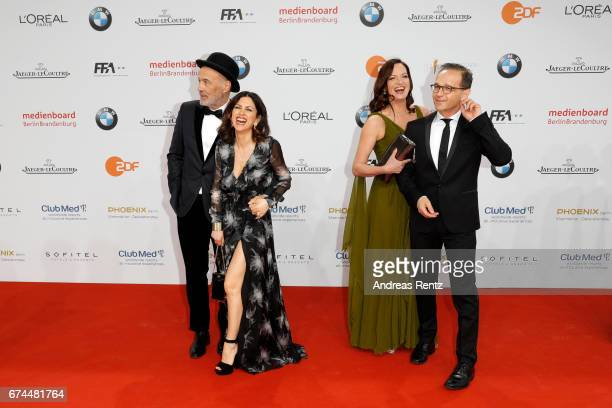Heiner Lauterbach Viktoria Lauterbach Natalia Woerner and Heiko Maas attend the Lola German Film Award red carpet at Messe Berlin on April 28 2017 in...