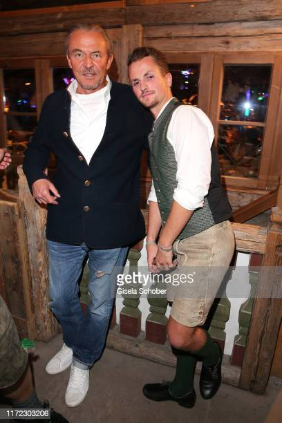 Heiner Pollert and David Vicedomini during the Oktoberfest 2019 at Kaeferschaenke beer tent / Theresienwiese on September 29 2019 in Munich Germany