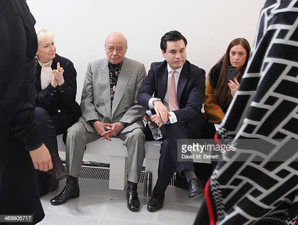 Heini AlFayed Mohamed AlFayed Ben Chan and Emma Newman front row for ISSA Autumn/Winter 2014 Show at The Serpentine Sackler Gallery on February 17...