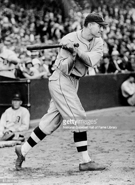 Heinie Manush of the Detroit Tigers swings at a pitch during a 19231927 season game Heinie Manush played for the Detroit Tigers from 19231927
