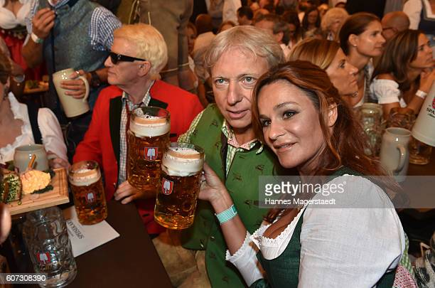 Heino, Andrea Berg and her husband Uli Ferber during the opening of the 2016 Oktoberfest beer festival in the Schottenhamel tent at Theresienwiese on...