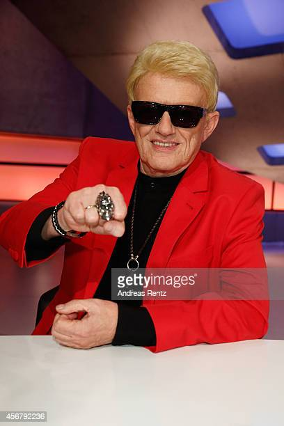 Heino attends the 'Deutschland sucht den Superstar' jury photocall on October 7 2014 in Cologne Germany