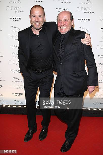 Heino Ferch and guest attend the Jaguar FType short film 'The Key' Premiere at eWerk on April 13 2013 in Berlin Germany