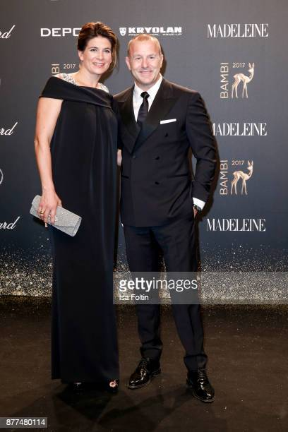 Heino Ferch and his wife Marie Jeanette Ferch arrive at the Bambi Awards 2017 at Stage Theater on November 16 2017 in Berlin Germany