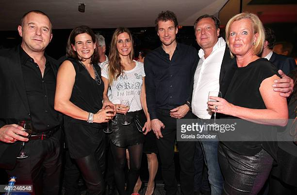 Heino Ferch and his wife Marie Jeanette Ferch Jens Lehmann and his wife Conny Oliver Kastalio CEO Rodenstock and his wife Kirsten Kastalio during the...