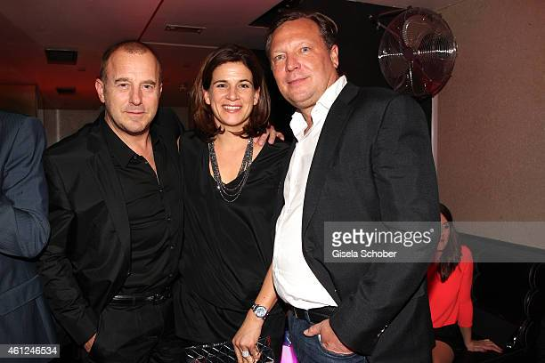 Heino Ferch and his wife Marie Jeanette Oliver Kastalio CEO Rodenstock during the Rodenstock Bogner premiere party at P1 on January 9 2015 in Munich...