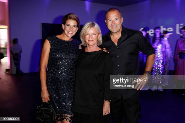 Heino Ferch and his wife MarieJeanette Ferch and designer Elisabeth Schwaiger at the Laurel Collection Presentation during the Berlin Fashion Week...