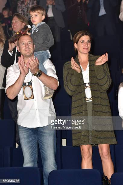 Heino Ferch and his wife MarieJeanette Ferch and their son Gustav during the world premiere of the horse show 'EQUILA' at Apassionata Showpalast...