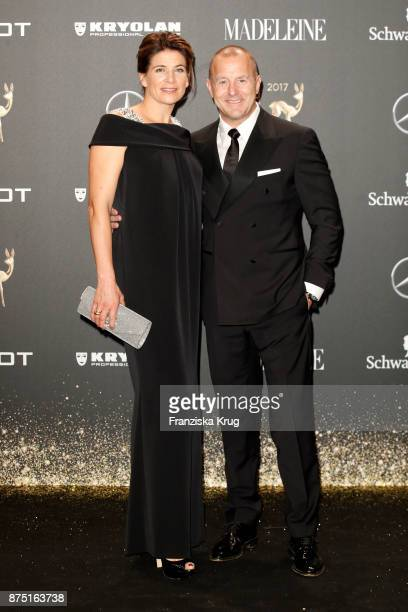Heino Ferch and his wife MarieJeanette Ferch arrive at the Bambi Awards 2017 at Stage Theater on November 16 2017 in Berlin Germany