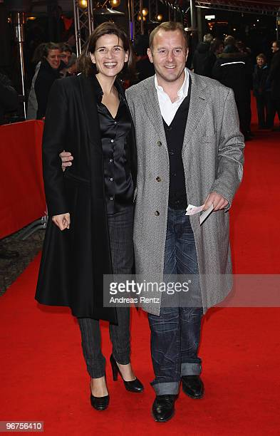 Heino Ferch and his wife MarieJeanette Ferch attend the 'Boxhagener Platz' Premiere during day six of the 60th Berlin International Film Festival at...