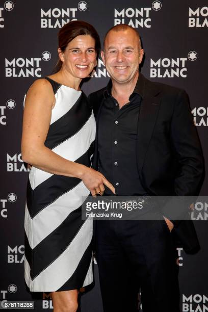 Heino Ferch and his wife MarieJeanette Ferch attend the Montblanc spring party on May 3 2017 in Munich Germany