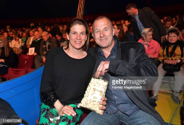 Heino Ferch and his wife MarieJeanette Ferch attend the premiere of new tour program MANDANA Ciruskunst neu getraeumt at Circus Krone on April 04...