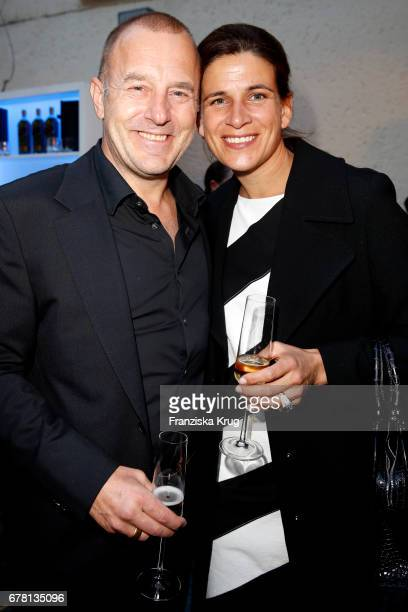 Heino Ferch and MarieJeanette Ferch attend the Montblanc spring party on May 3 2017 in Munich Germany
