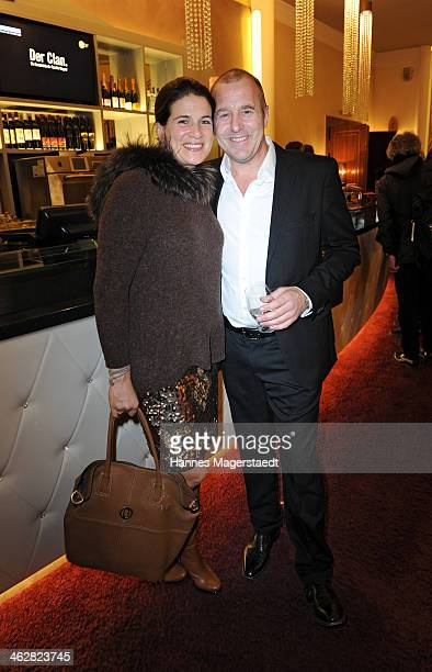 Heino Ferch and MarieJeanette Ferch attend the premiere of the film 'Der Clan Die Geschichte der Familie Wagner' at Gloria Palast on January 15 2014...