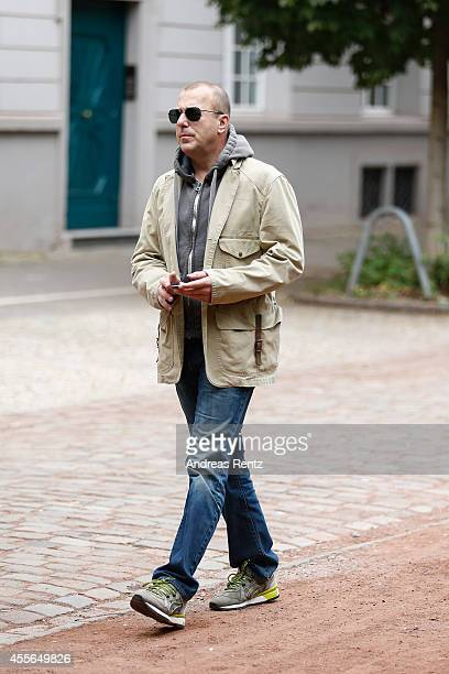 Heino Ferch arrives for a photocall to promote the film 'Fritz Lang Der andere in uns' on September 18 2014 in Duesseldorf Germany