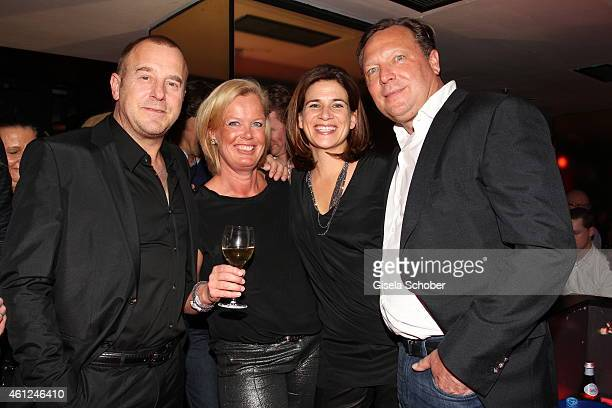 Heino Ferch Kirsten Kastalio Marie Jeanette Ferch Oliver Kastalio CEO Rodenstock during the Rodenstock Bogner premiere party at P1 on January 9 2015...