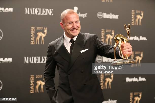 Heino Ferch with award during the Bambi Awards 2017 winners board at Stage Theater on November 16 2017 in Berlin Germany