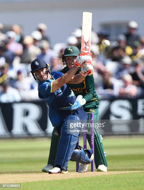 Heino Kuhn of Kent batting during the Royal London OneDay Cup match between Nottinghamshire Outlaws and Kent Spitfires at Trent Bridge on June 14...