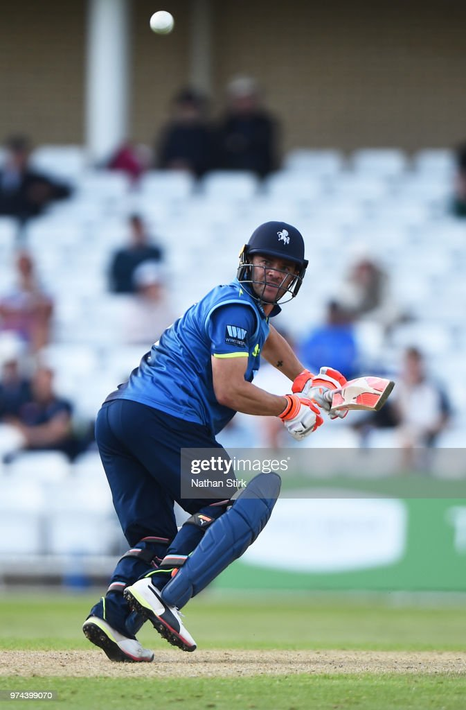 Heino Kuhn of Kent batting during the Royal London One-Day Cup match between Nottinghamshire Outlaws and Kent Spitfires at Trent Bridge on June 14, 2018 in Nottingham, England.