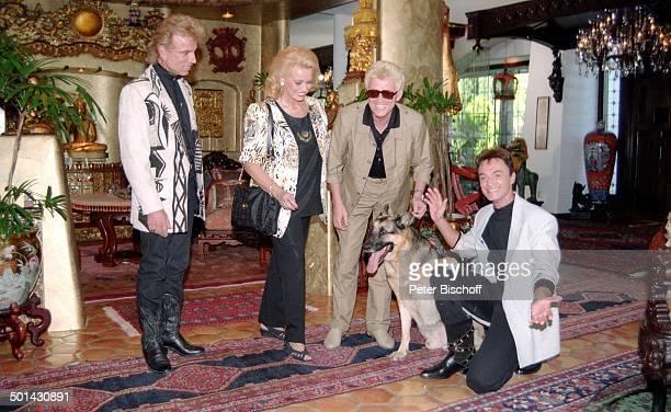 Heino mit Ehefrau Hannelore Kramm Siegfried Roy Homestory DschungelPalast Las Vegas Nevada USA Schäferhund Hund Tier Künstlernamen Siegfried...
