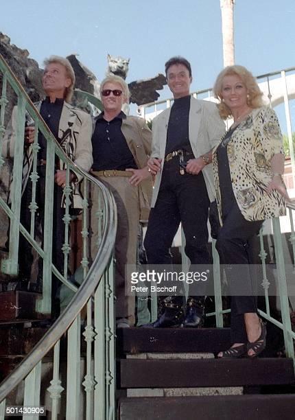 Heino mit Ehefrau Hannelore Kramm und Siegfried Roy Homestory DschungelPalast Las Vegas Nevada USA Künstlernamen Siegfried Fischbacher Roy Uwe Ludwig...