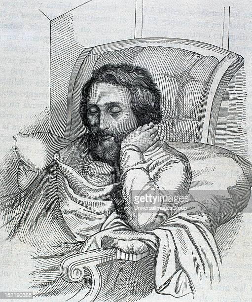 HEINE Heinrich German writer Engraving by Weger and Singer 1885