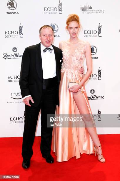 Heinrich Gersmeier and guest during the Echo award red carpet on April 6 2017 in Berlin Germany