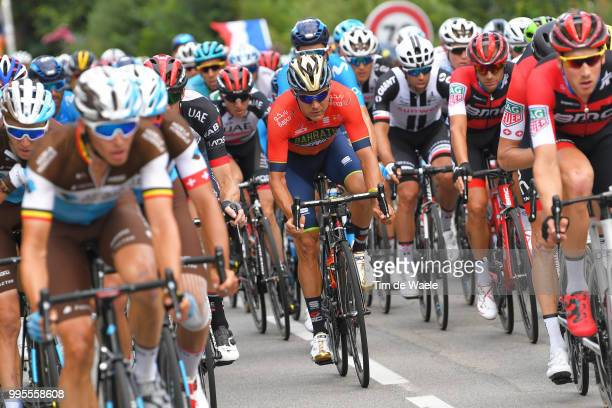 Heinrich Haussler of Australia and Bahrain Merida Pro Team / Michael Matthews of Australia and Team Sunweb / during the 105th Tour de France 2018...