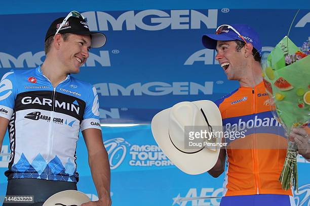 Heinrich Haussler of Australia riding for Garmin-Barracuda in second place and Michael Matthews of Australia riding for Rabobank Cycling Team take...