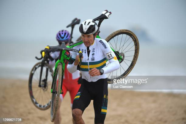 Heinrich Haussler of Australia / Sea / Sand / Beach / during the 72nd UCI Cyclo-Cross World Championships Oostende 2021, Men Elite / @UCI_CX /...
