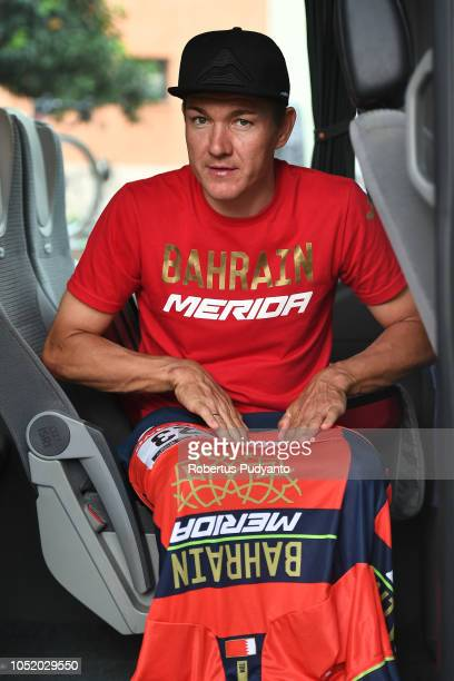 Heinrich Haussler of Team Bahrain Merida prepares his jersey during Stage 5 of the 54th Presidential Cycling Tour of Turkey 2018, Selcuk to Manisa on...