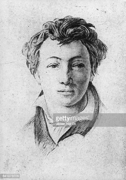 Heinrich Heine *1312179717021856Schriftsteller DeutschlandPorträt anonyme Zeichnung