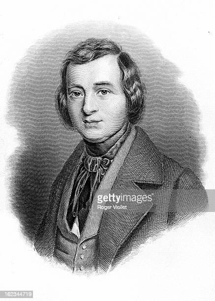 Heinrich Heine German poet circa 1825 Engraving