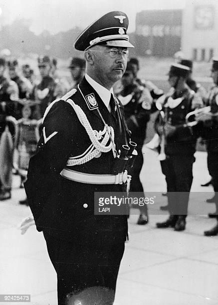 Heinrich Himmler , German politician, as head of the Gestapo, in 1943.