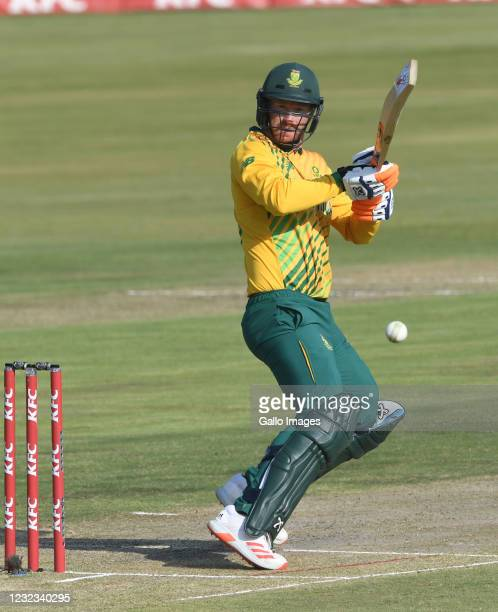Heinrich Klaasen of the Proteas during the 4th KFC T20 International match between South Africa and Pakistan at SuperSport Park on April 16, 2021 in...