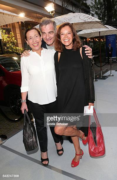 Heinrich Schafmeister and his wife Jutta Schafmeister and Angela Roy during the Peugeot BVC Casting Night during the Munich Film Festival 2016 at...
