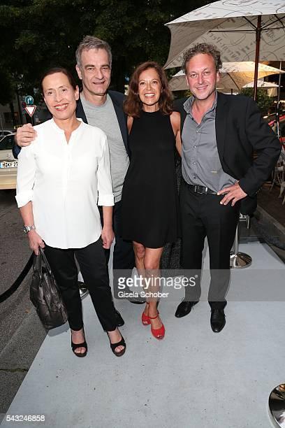 Heinrich Schafmeister and his wife Jutta Schafmeister, Angela Roy and Thomas Schmuckert during the Peugeot BVC Casting Night during the Munich Film...
