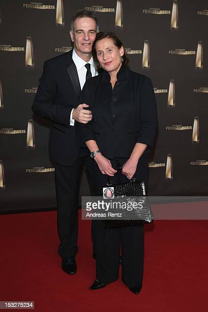 Heinrich Schafmeister and his wife Jutta Schafmeister arrive for the German TV Award 2012 at Coloneum on October 2 2012 in Cologne Germany