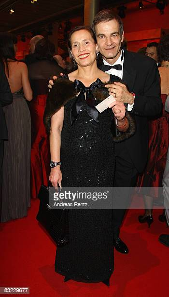Heinrich Schafmeister and his wife Jutta Schafmeister arrive for the German TV Award 2008 at the Coloneum on October 11, 2008 in Cologne, Germany.