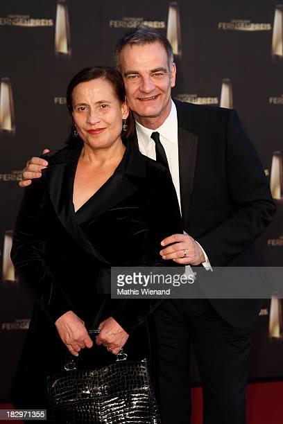 Heinrich Schafmeister and his wife Jutta Schafmeister arrives at the red carpet of the 'Deutscher Fernsehpreis 2013' at Coloneum on October 2, 2013...