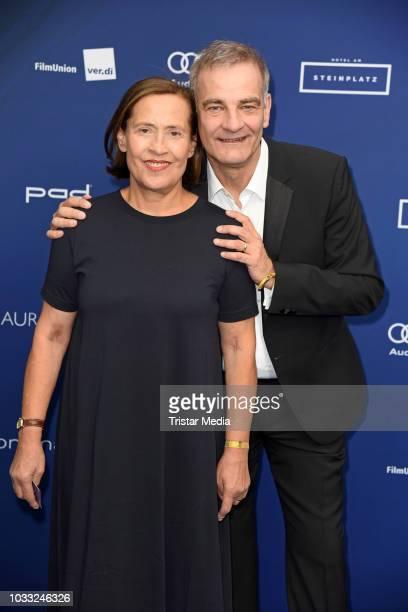 Heinrich Schafmeister and his wife Jutta Schafmeister attend the Deutscher Schauspielpreis 2018 at Zoo Palast on September 14, 2018 in Berlin,...