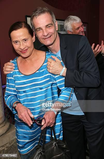 Heinrich Schafmeister and his wife Jutta Schafmeister attend the Bavaria Film reception during the Munich Film Festival at Kuenstlerhaus am...