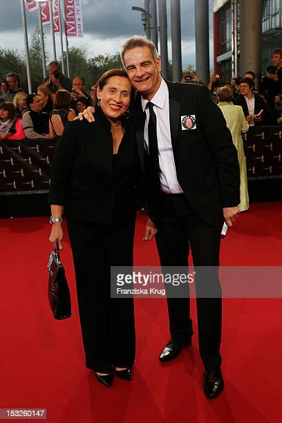 Heinrich Schafmeister and his wife Jutta Schafmeister attend the German TV Awards 2012 at Coloneum on October 2 2012 in Cologne Germany