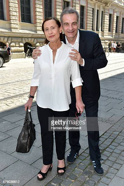 Heinrich Schafmeister and his wife Jutta Schafmeister Elsner attends the ZDF reception during the Munich Film Festival at Hugo's on June 30 2015 in...