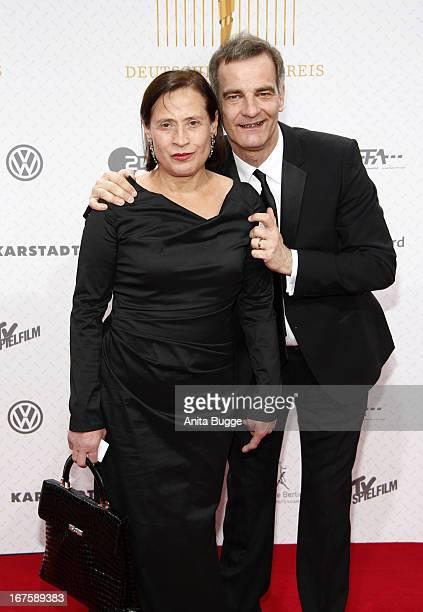 Heinrich Schafmeister and Jutta Schafmeister attend the Lola German Film Award 2013 at Friedrichstadtpalast at Friedrichstadt-Palast on April 26,...